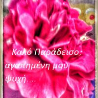 Καλό Παράδεισο, αγαπημένη μου ψυχή...