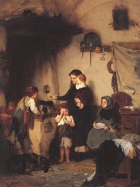 Νικόλαος Γύζης Τα ορφανά 1871