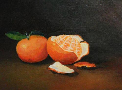 JA, Tangerine (mandarin orange) painting, art classes by Jimmy Quek, Singapore.