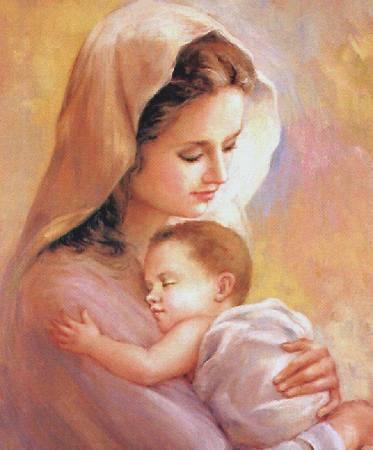 στην αγακαλιά της μάνας