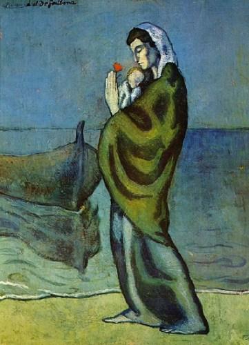 Mητέρα και παιδί στην παραλία 1902 (1)