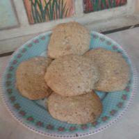 Μπισκότα cookies με ταχίνι και πορτοκάλι (αλάδωτα)