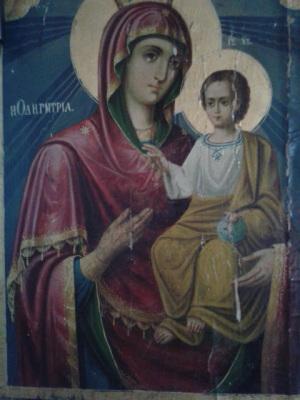 Παναγία Οδηγήτρια, στο εξωκκλήσι του Προφήτη Ηλία, στον Αη Λια Καστοριάς